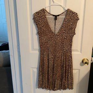 Cheetah print flowy dress